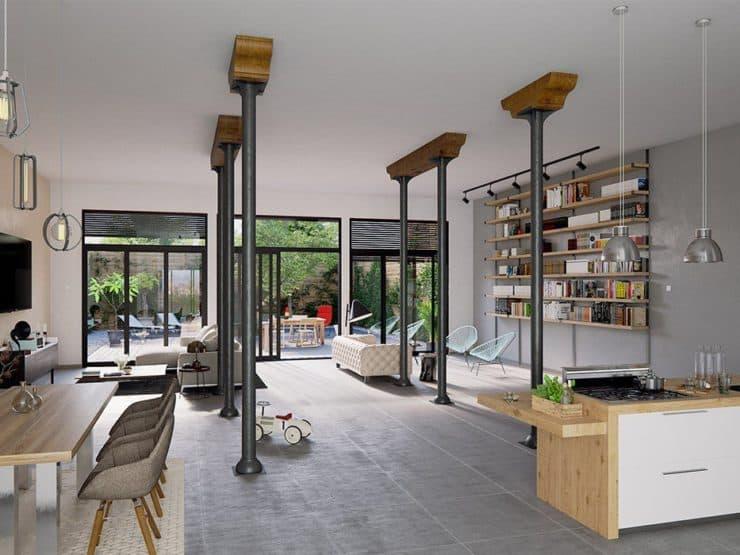 Bordeaux – Tivoli-Rivière / Lofts de plain-pied ou en Duplex