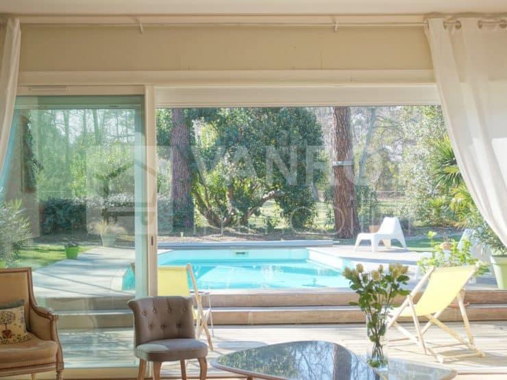 Golf d'Arcachon / Villa très lumineuse ouverte sur sa piscine