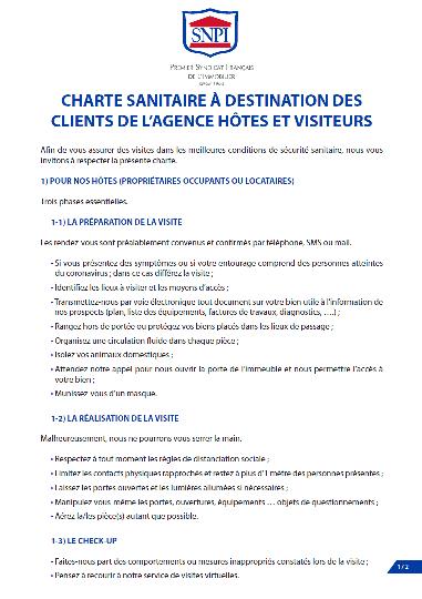 Charte sanitaire SNPI - Page 1