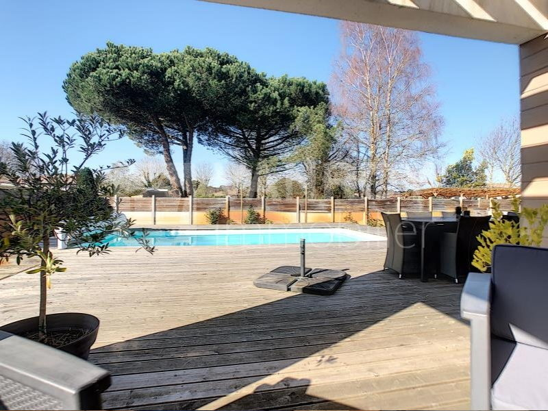 La Teste - Cazaux / Villa contemporaine T5 avec piscine - Terrasse avec piscine