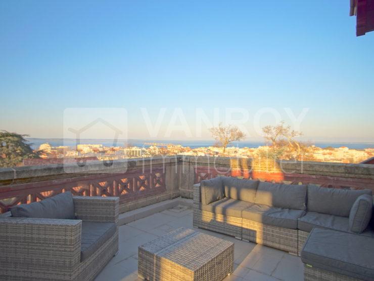 Exclusivité / Arcachon – Ville d'hiver / Appartement avec vue mer panoramique